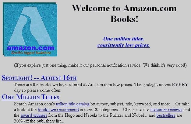 amazon's original page