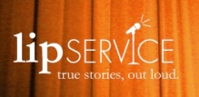lip service curtain logo